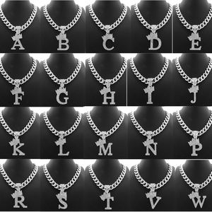 """Other - INITIAL LETTER PENDANT 11mm/20""""CUBAN CHAIN RC3399R"""